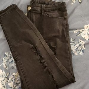 Forever 21 High waisted distressed black jeans
